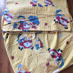 Other - VTG Sear Children Playing Tree Twin Flannel Sheet